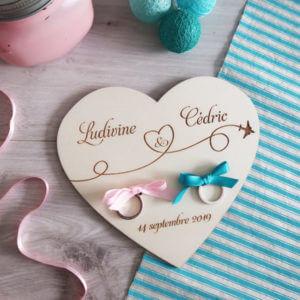 Porte Alliances logo des mariés