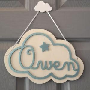 Pancarte Nuage d'Owen