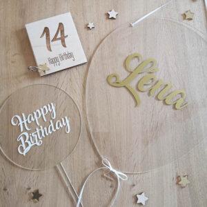 Déco de fête - 14 ans de Léna