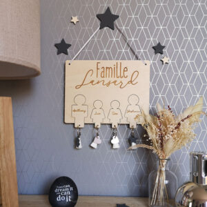 Support à clés - Famille