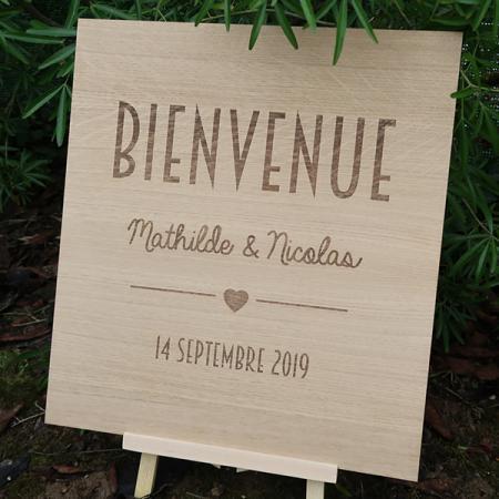 Deco mariage_Panneau bois bienvenue_Chène_Trendy_Ambiance_1_600x600