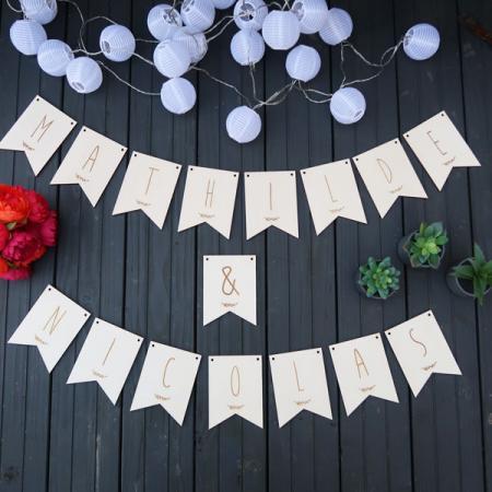 Déco mariage_Guirlande_Prénoms des mariés_Bois gravé_Ambiance_1_600x600