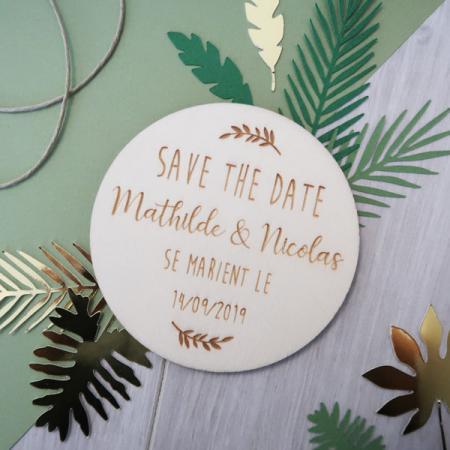 Déco mariage_Save the date_Medaillon_Bois_Gravé_Champêtre_Ambiance_1_600X600