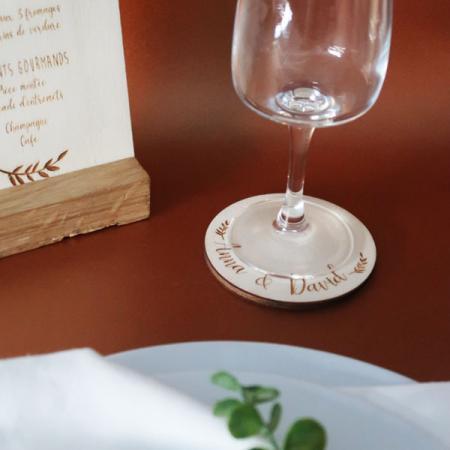 Déco mariage_Table de fête_Dessous de verre_Champêtre_Ambiance_1_600x600