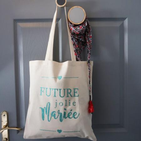 EVJF_Tote bag_Future jolie mariée_Vert Jade_Ambiance_1_600x600