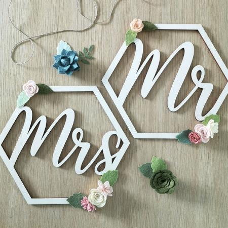 Déco mariage_Duo de couronne Mr & Mrs_1